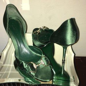 Gucci D Orsay Open Toe Heels